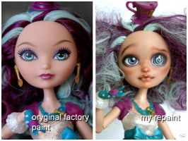 Maddie Hatter EAH repaint before and after by kamarza