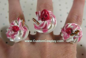 Strawberry syrup parfait rings by The-Cute-Storm