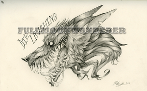 Crazy Wolf Tattoo commission by fullmoonwanderer