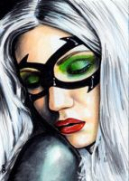 Black Cat Sketch Card 8 by veripwolf