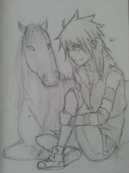 Ao and her horse by 123Kyuri