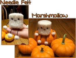 Needle Felt Marshmallow by Leezies
