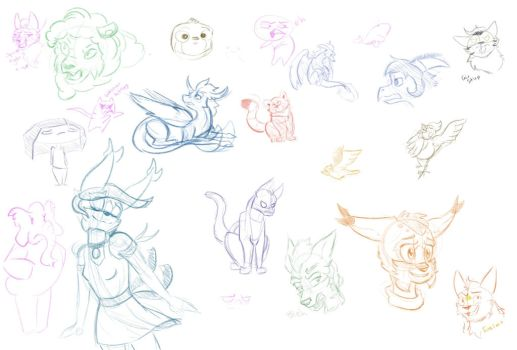 Sketchies by Dove-Dragon