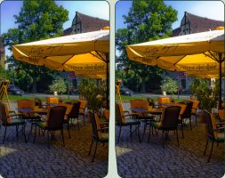 Dom Cafe Naumburg 3D ::: Cross Eye Stereoscopic HD by zour