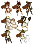 Anthro female adoptables 1 LEFT by CelesticAdopts