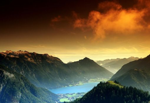 Achensee Lake in Austria II by mutrus