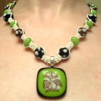 Groovy Mushroom Hemp Necklace by ReezaJoy