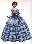 1860s Christine Gown by Muirin007