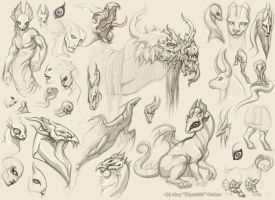 Assorted Sketches 2 by Kipestshin