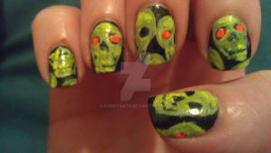 Glowing Skulls Left Hand by rabbithat8