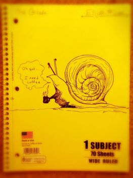 Snail needs Coffee Doodle by Pencil-this