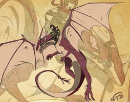 Dragon Rider by NiJole-teh-drac