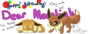 Eevee b'day present by GoldFlareon