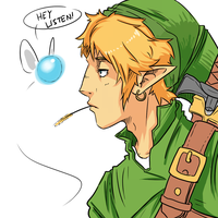 Link and Navi by 15p