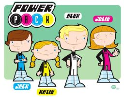 Marvel Comics Power Pack by Montygog