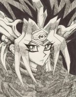 Pharaoh Atem 1-Pen and Ink by salina3