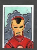 I am Iron Man sketch card by johnnyism