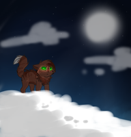 A kit in the night by Ellathegrayeevee