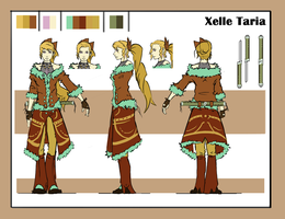 Xelle Taria orthographic sheet by ZEroePHYRt