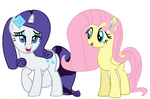 Fluttershy And Rarity by GrumpCookie