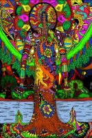 Psychedelic River by boywhoturnedtostone