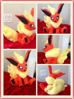 Flareon Plush by GreyscaleRainbowXx
