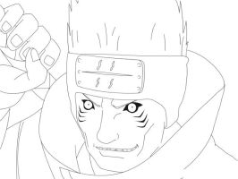 Lineart: Kisame. by boing-paradise
