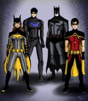 Young Justice - Batman proteges by Ayeri