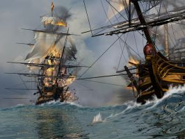 Battle at sea by pjero