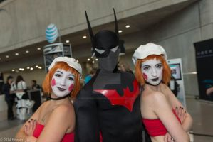 Batman Beyond and the Dee-Dees waiting for..... by BatmanBeyondfan2009
