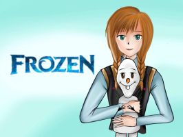 Frozen- Ana and Olaf by Omerii