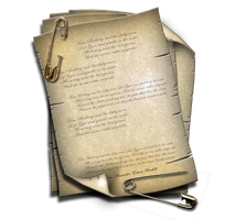 Steampunk Attached Document Icon by yereverluvinuncleber