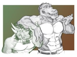 Bust 33+34: Drake and Tank by Coelasquid
