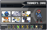 My pokemon black trainer card by ootamukun