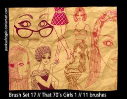 Brush Set 17 - That 70s Girls by punksafetypin