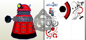 Doctor Who Chibi Dalek Papercraft Preview by HellswordPapercraft