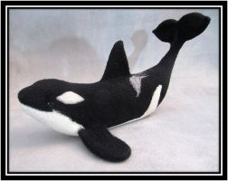 Black and White Needle Felted Killer Orca Whale by NoahsNovelties