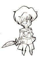 Chibi Sailor Uranus Lineart by Clamp101