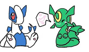 Lugia and Rayquaza chibis by mmishee