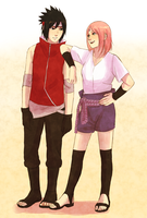 SasuSaku swap clothes by steampunkskulls