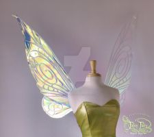Tink Iridescent Large Wings Front Pearl Veins by FaeryAzarelle
