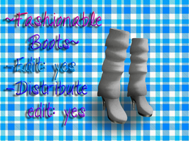 Fashionable Heeled Boots + Download by OurHeartsRhythm