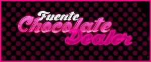 Fuente Chocolate Dealer .-Font by Movimientodealegria