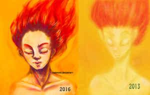 Boxer redo painting 2016 vs 2013 by SageMint