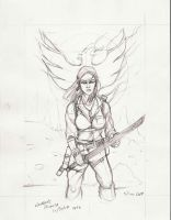 Phoenix Sketch by squinkyproductions