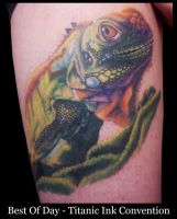 Award Winning Lizard Tattoo by IanInkTattoo