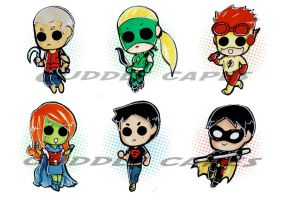 Young Justice-Buttons by CuddlyCapes