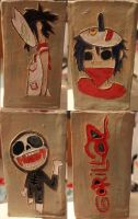 Gorillaz Pottery by 23-hour-party-people