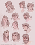 Some human sketches by Drahiny