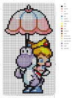 Baby Peach and Yoshi Pattern by H3LLoK66aren99